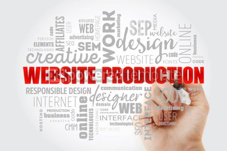 Business: Website production process word cloud #13012