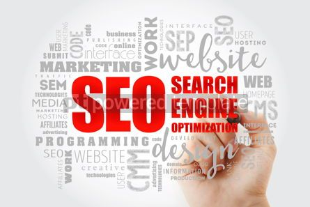 Business: SEO Search Engine Optimization word cloud #13024
