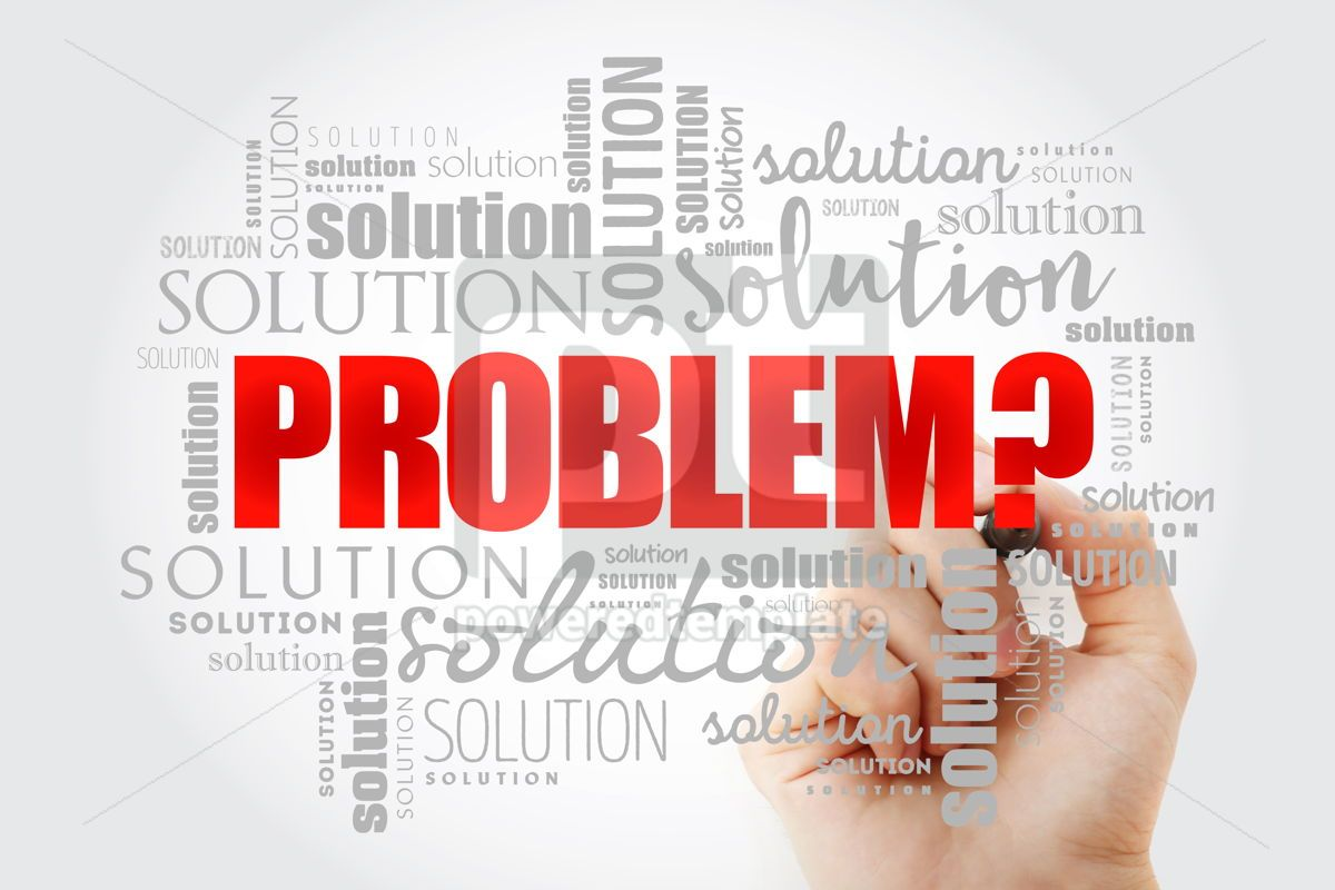 Problem and solution word cloud collage, 13028, Business — PoweredTemplate.com