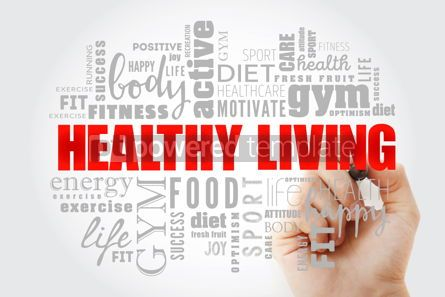 Business: Healthy Living word cloud collage #13032
