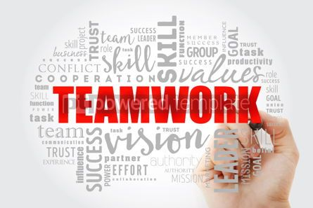 Business: TEAMWORK word cloud collage #13033