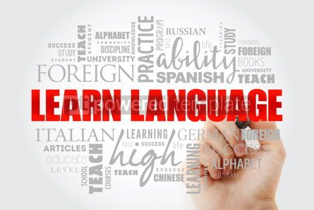 Business: Learn Language word cloud #13039