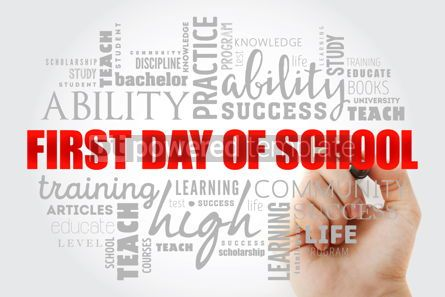 Business: First day of school word cloud collage #13044