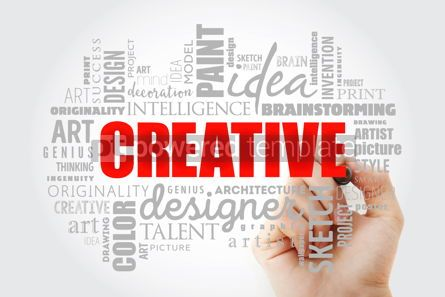 Business: CREATIVE word cloud concept #13050