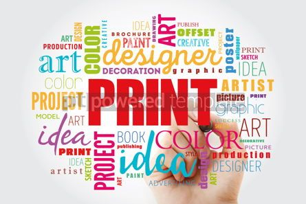 Business: PRINT word cloud creative concept #13056