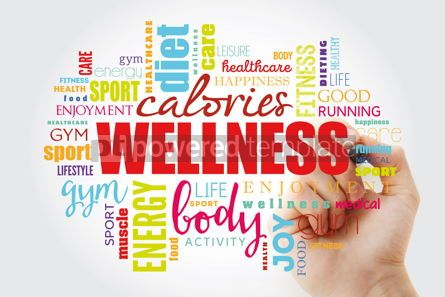 Business: Wellness word cloud collage #13063