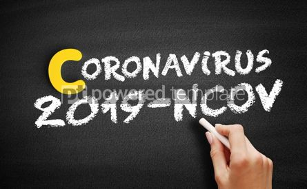 Education: Coronavirus 2019-nCoV text on blackboard medical concept backgr #13070