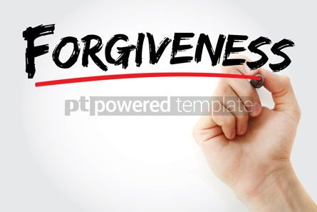 Business: Forgiveness text with marker #13085