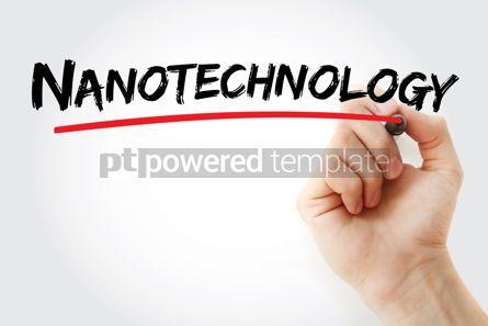 Business: Nanotechnology text with marker #13096
