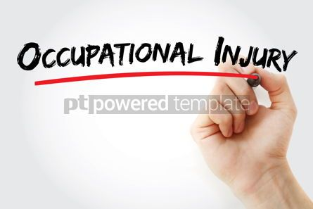 Business: Occupational injury text with marker #13097