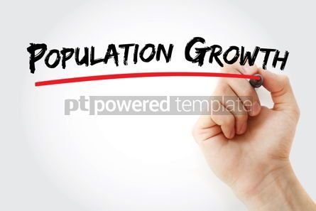 Business: population growth text with marker #13099