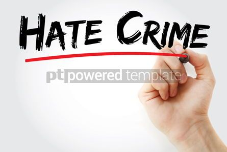 Business: Hate Crime text with marker #13113