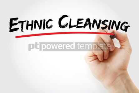 Business: Ethnic Cleansing text with marker #13114