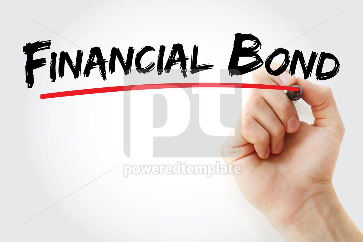 Financial Bond text with marker, 13115, Business — PoweredTemplate.com