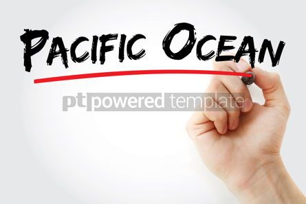 Business: Pacific Ocean text with marker #13116