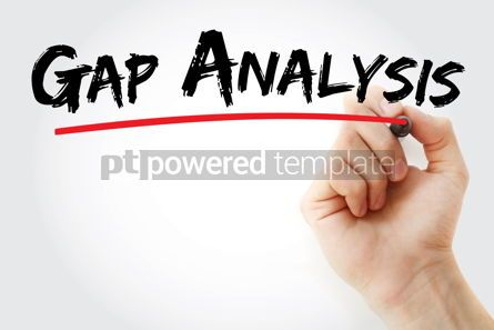 Business: Gap Analysis text with marker #13128