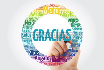 Business: Gracias Thank You in Spanish word cloud #13132