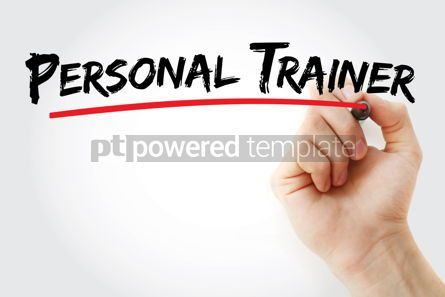 Business: Personal trainer text with marker #13134