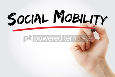 Business: Social mobility text with marker #13140