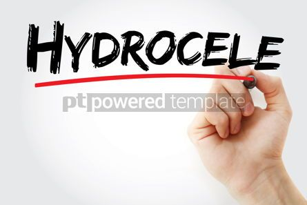 Business: Hydrocele text with marker #13145
