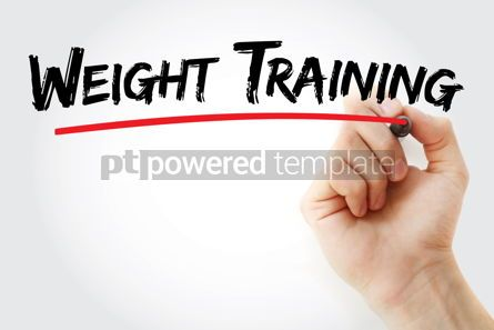 Business: Weight training text with marker #13157