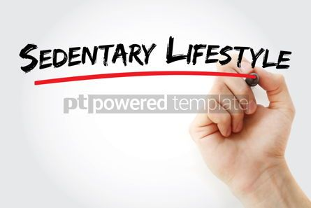 Business: Sedentary lifestyle text with marker #13160