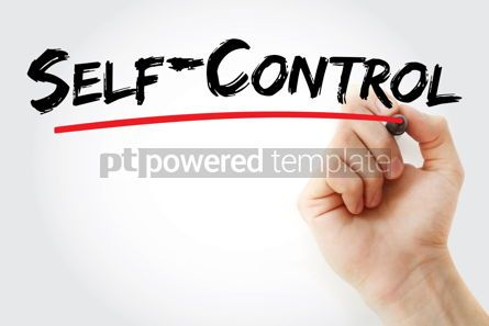 Business: Self - Control text with marker #13175
