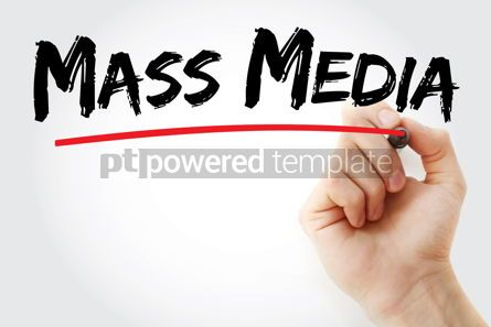 Business: Mass Media text with marker #13177