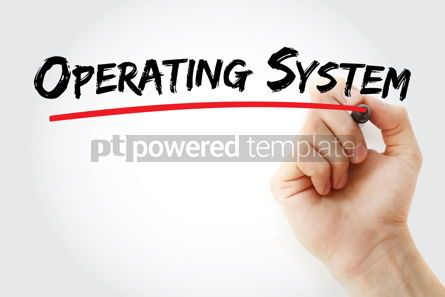 Business: Operating system text with marker #13179