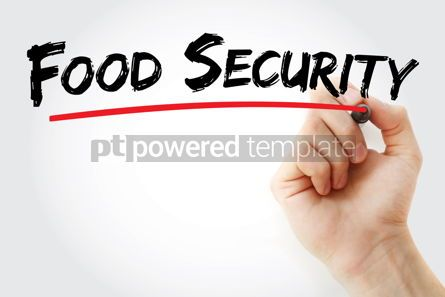 Business: Food security text with marker #13181
