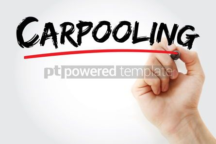 Business: Carpooling text with marker #13187