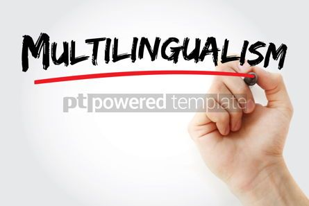 Business: Multilingualism text with marker #13190