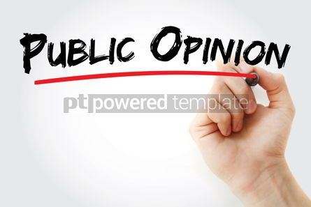 Business: Public Opinion text with marker #13193