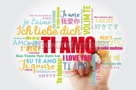 Education: Ti amo I Love You in Italian word cloud #13208