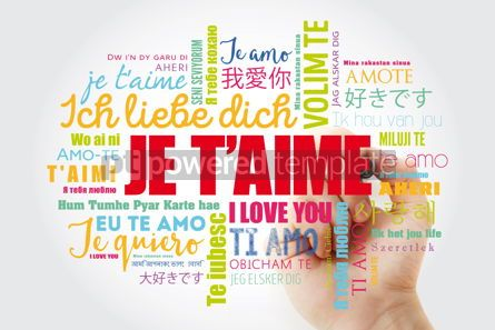 Education: Je t'aime I Love You in French word cloud #13209