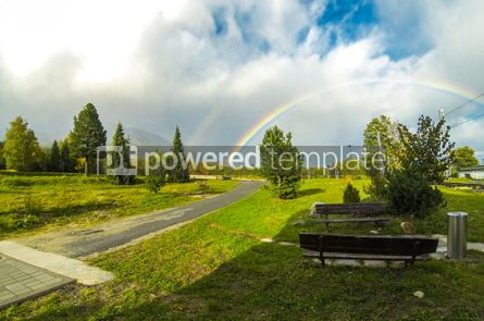 Nature: Rainbow over High Tatras Mountains near Vysoke Tatry Slovakia #13214