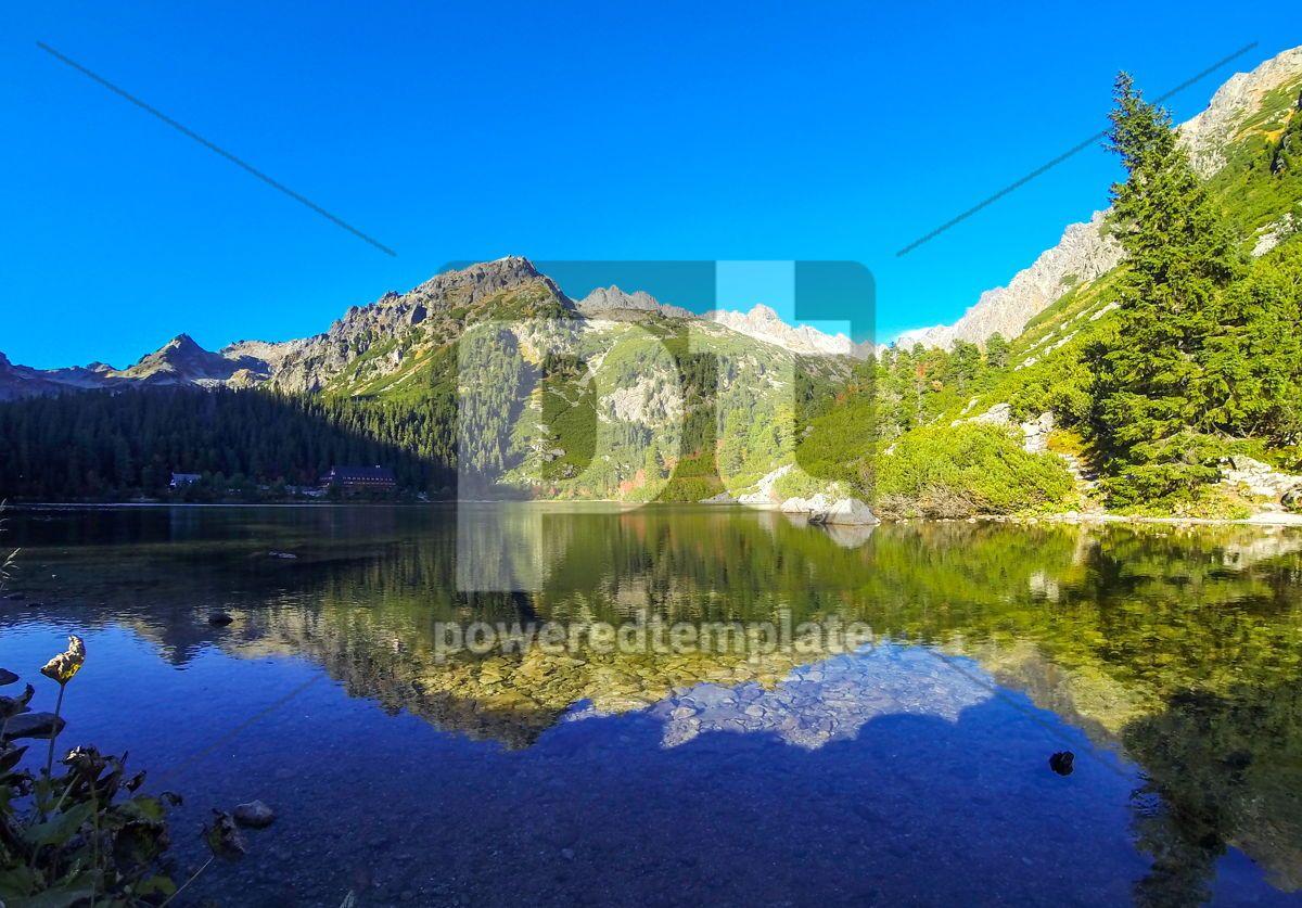 Popradske pleso lake High Tatras Mountains Slovakia, 13215, Nature — PoweredTemplate.com