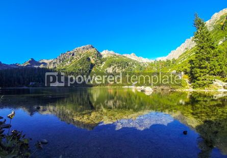 Nature: Popradske pleso lake High Tatras Mountains Slovakia #13215