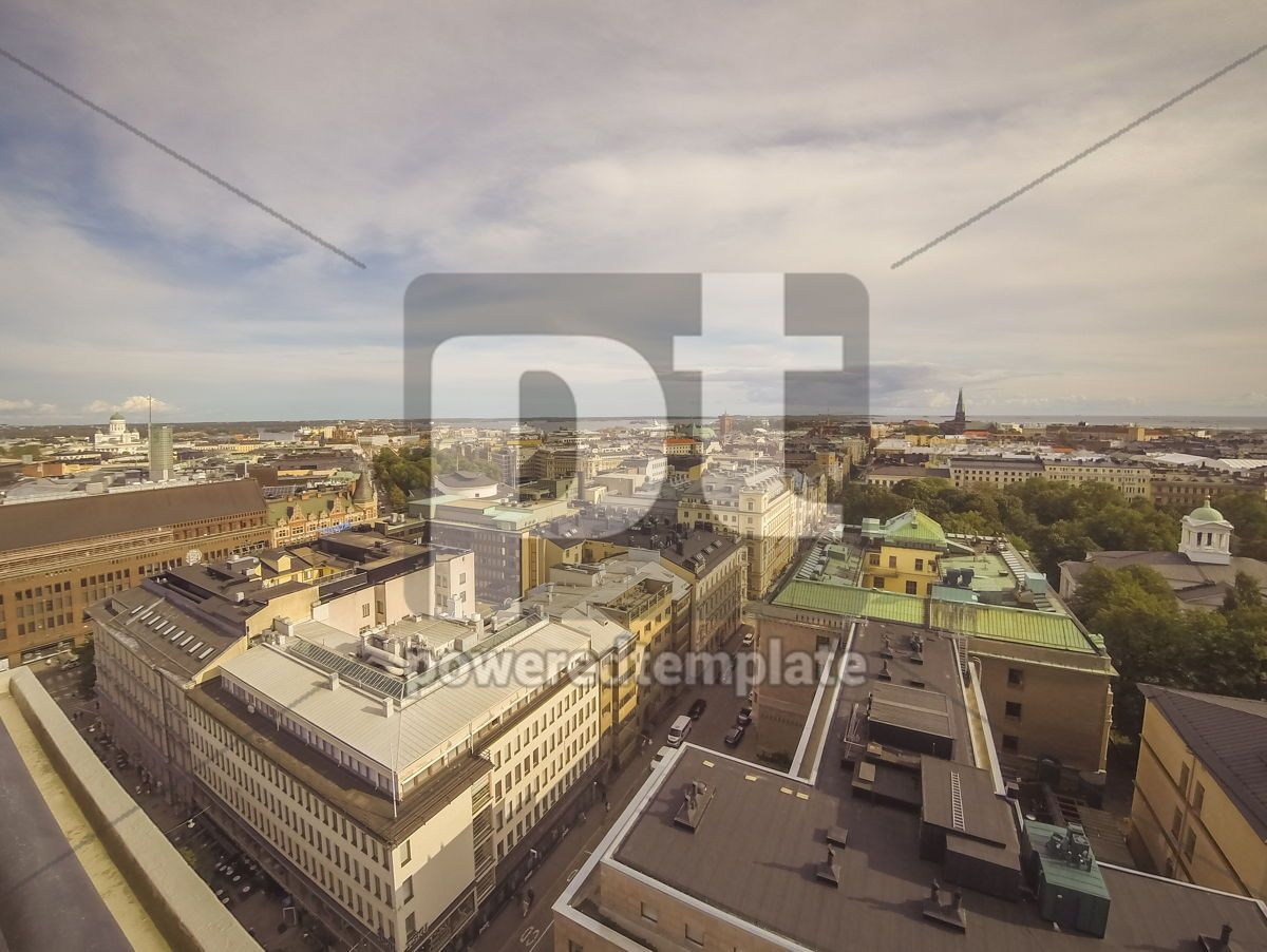 Panoramic aerial view of Helsinki city capital of Finland, 13216, Architecture  — PoweredTemplate.com