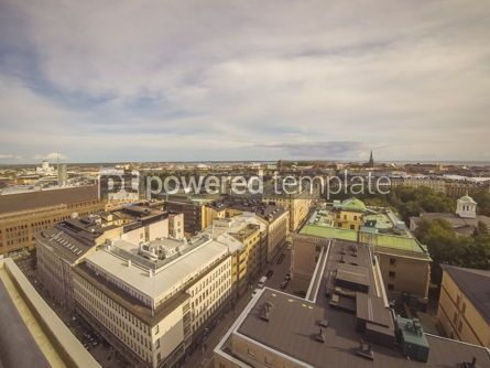 Architecture : Panoramic aerial view of Helsinki city capital of Finland #13216