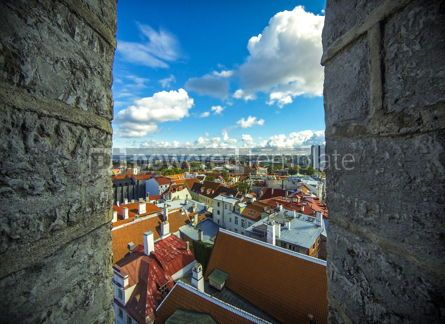 Architecture : Aerial view of Tallinn Old Town Vanalinn Estonia #13217