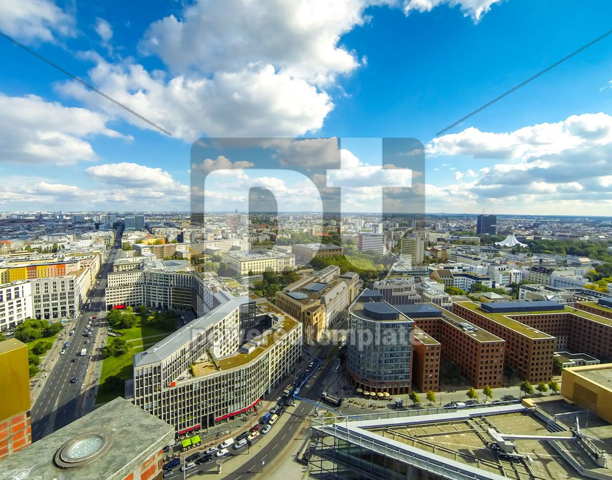 Aerial view of Berlin center Germany, 13219, Architecture  — PoweredTemplate.com