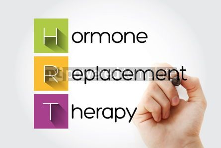 Education: HRT - Hormone Replacement Therapy acronym health concept backgr #13225
