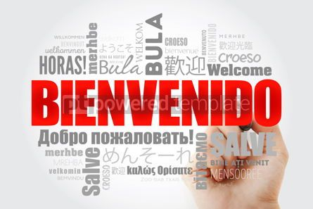 Business: Bienvenido Welcome in Spanish word cloud in different languag #13230