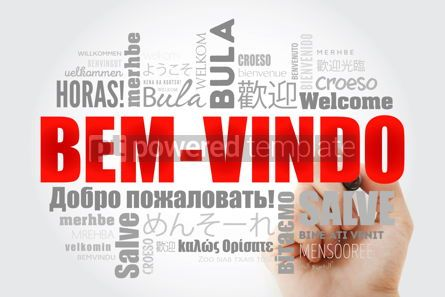 Business: Bem-Vindo Welcome in Portuguese word cloud with marker in diff #13232