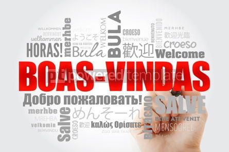 Business: Boas-Vindas Welcome in Brazilian Portuguese word cloud with ma #13238