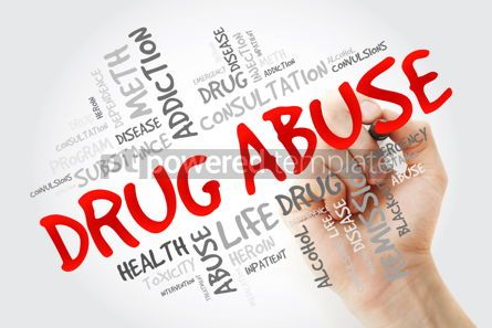 Education: Drug Abuse word cloud with marker health concept background #13247