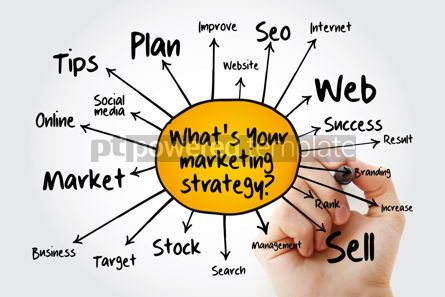 Business: What's Your Marketing Strategy mind map business concept for pr #13248