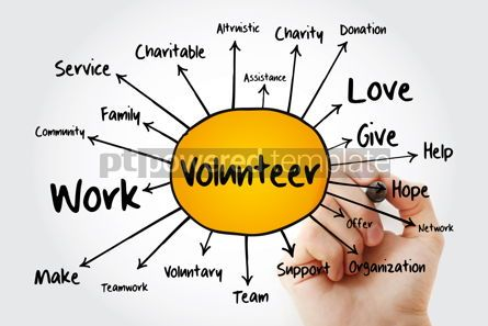 Business: Volunteer mind map business concept for presentations and repor #13249