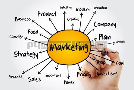 Business: Marketing Strategy and Core Objectives of Product mind map flowc #13252